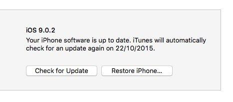 iOS 9.0.2 downgrade