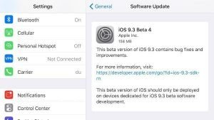 iOS 9.3 beta 4 releases to developers