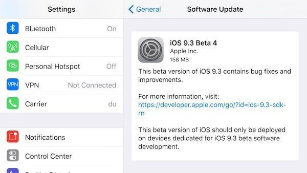 iOS 9.3 beta 4 releases to developers.jpg