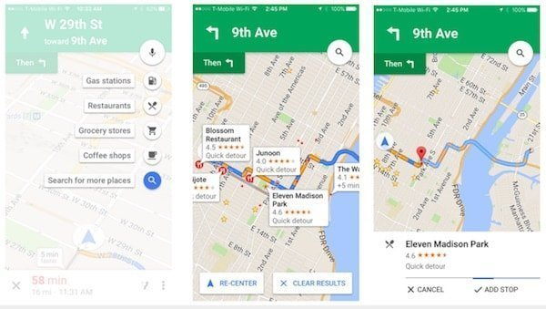 Google Maps adds pit stop feature to app for iOS and Android