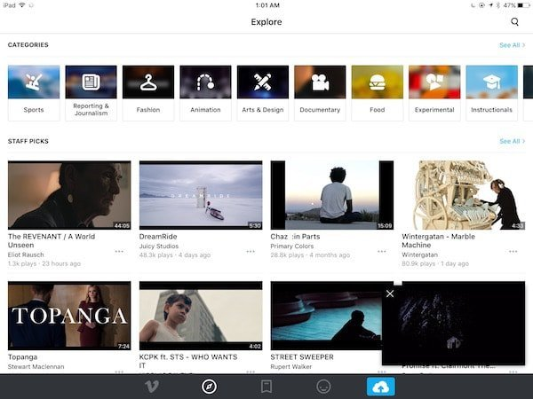 Vimeo v6.0 for iOS gets picture-in-picture, new design, new player and more