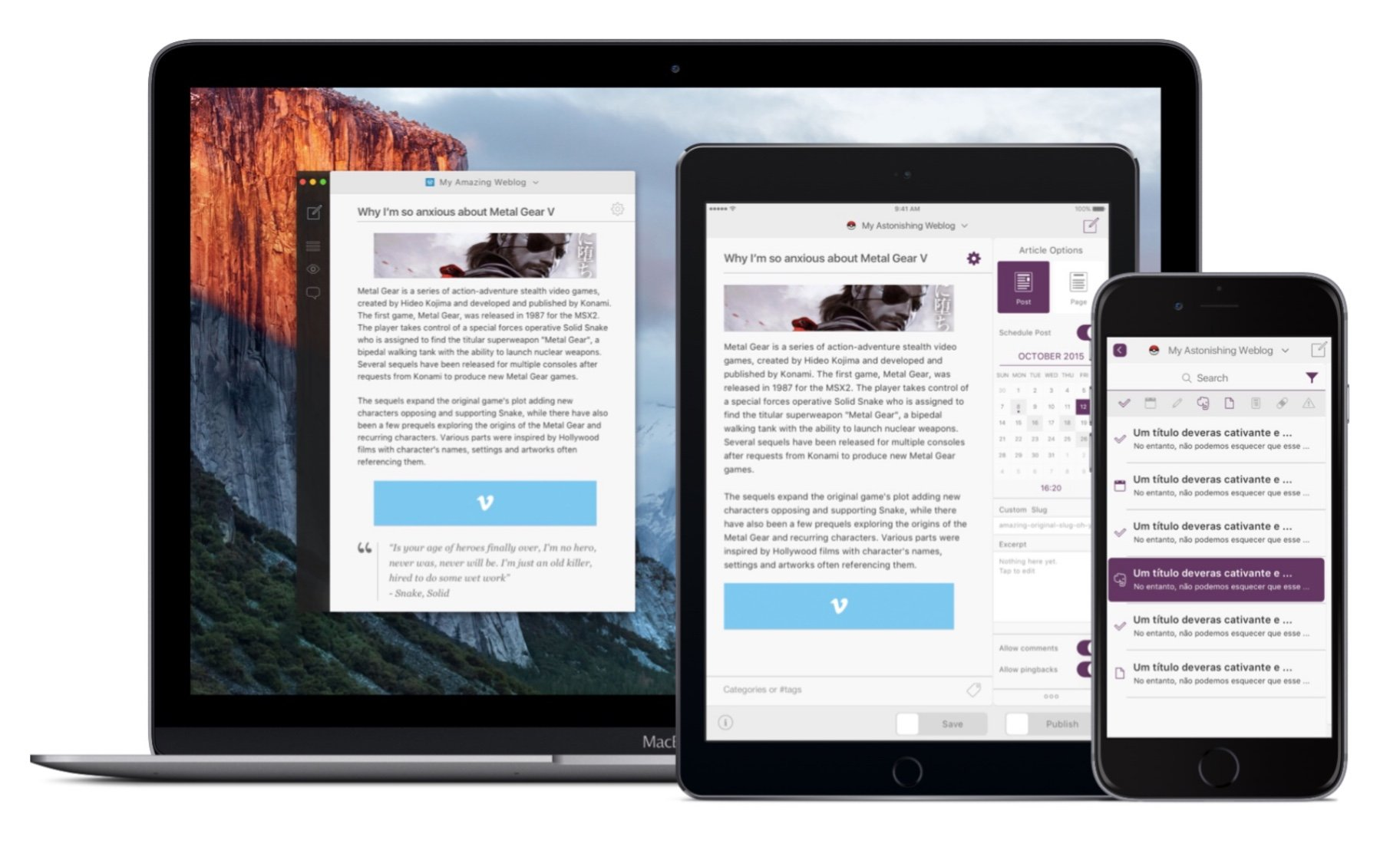 Blogo for iPhone and iPad