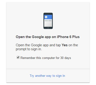 Google Promot notification in browser