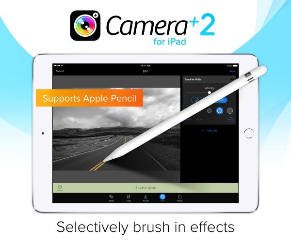 Camera+ 2 for iPad released with new design, tools and Apple Pencil support