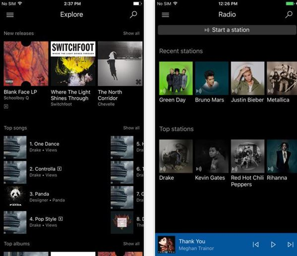 Microsoft Groove for iPhone gets a brand new design