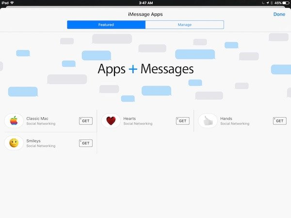 iOS 10 iMessage apps store