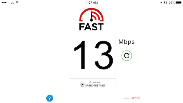 Fast Internet speed test app released for iOS