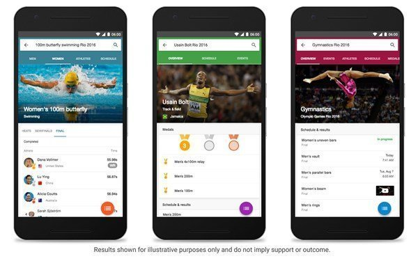 Google and Bing enable Rio 2016 search experiences