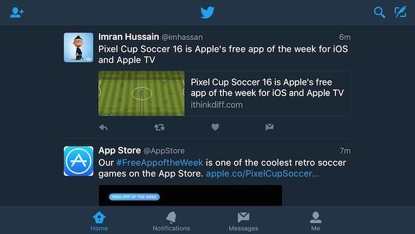 Twitter for iOS gets dark mode and new notification settings 1