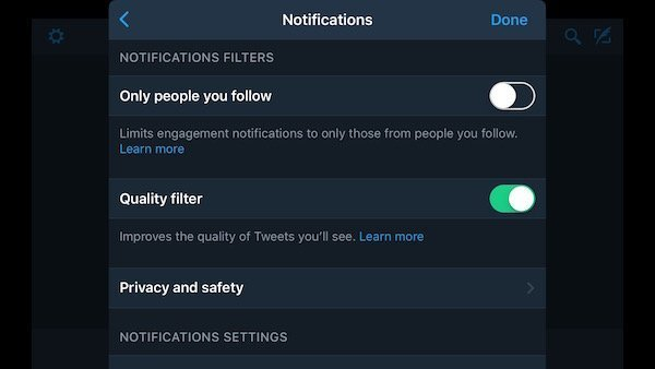Twitter for iOS gets dark mode and new notification settings 4