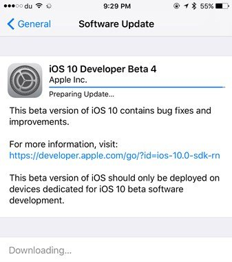 iOS 10 beta 4 available for iPhone, iPad and iPod touch (2)