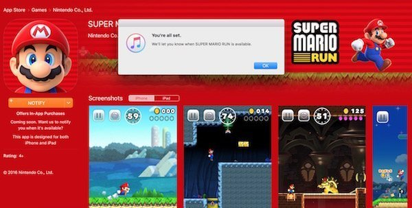 Super Mario Run for iOS announced by Apple and Nintendo 3