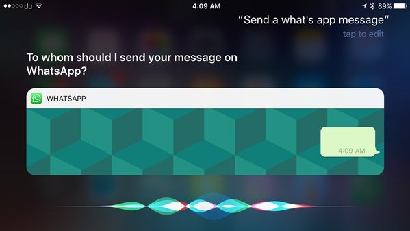 WhatsApp updated for iOS 10 Siri, Calls and Widget support added