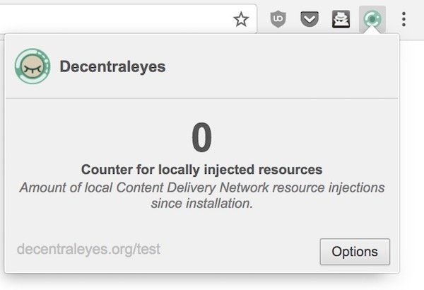 Decentraleyes for Chrome