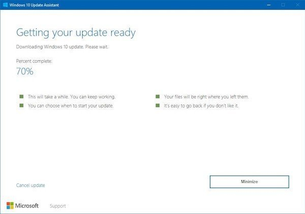 Windows 10 Creators Update Update Assistant