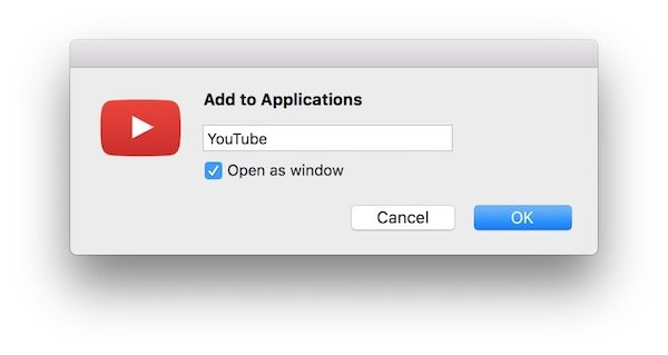 Add to applications Chrome macOS