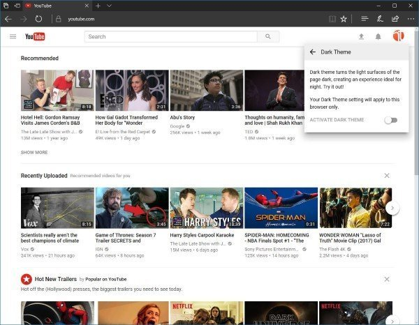 YouTube New Theme