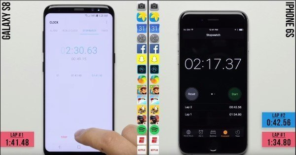 iPhone 6s vs Samsung Galaxy S8