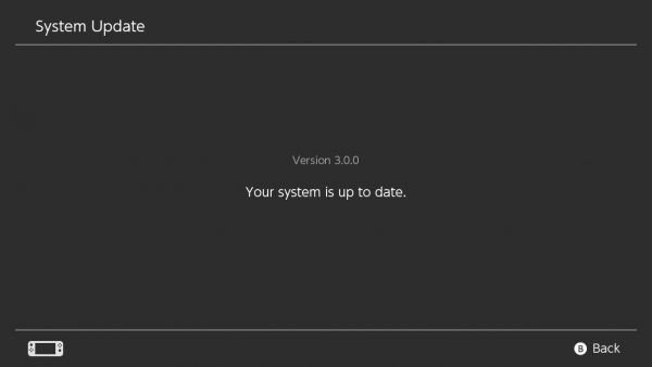 Nintendo Switch firmware version 3.0.0