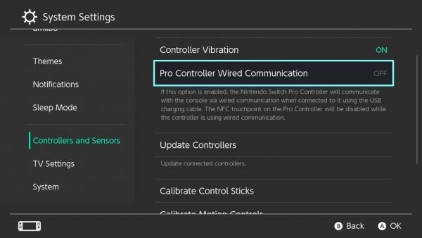 Pro Controller Wired Communication in Nintendo Switch