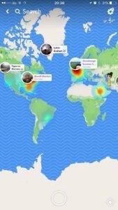 Snap Map globe 1