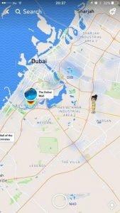 Snap Map globe