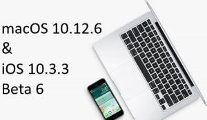 Beta 6 for iOS 10.3.3 and macOS 10.12.6