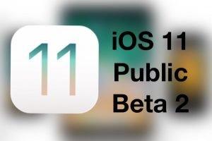 iOS 11 Pubilc Beta 2