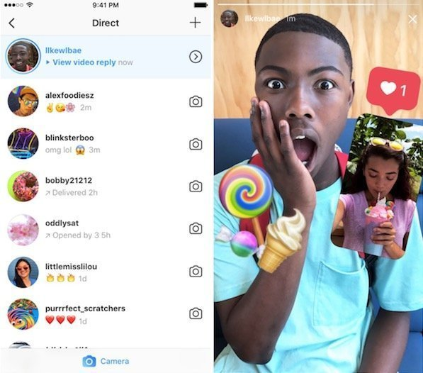 send photo and video replies to Instagram Stories