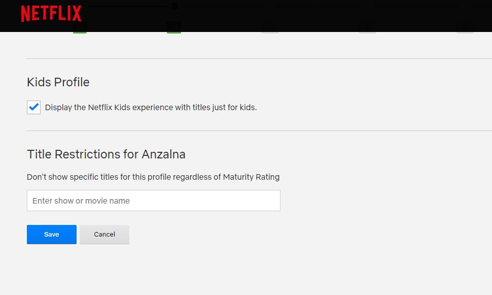 Netflix Kinds Profile