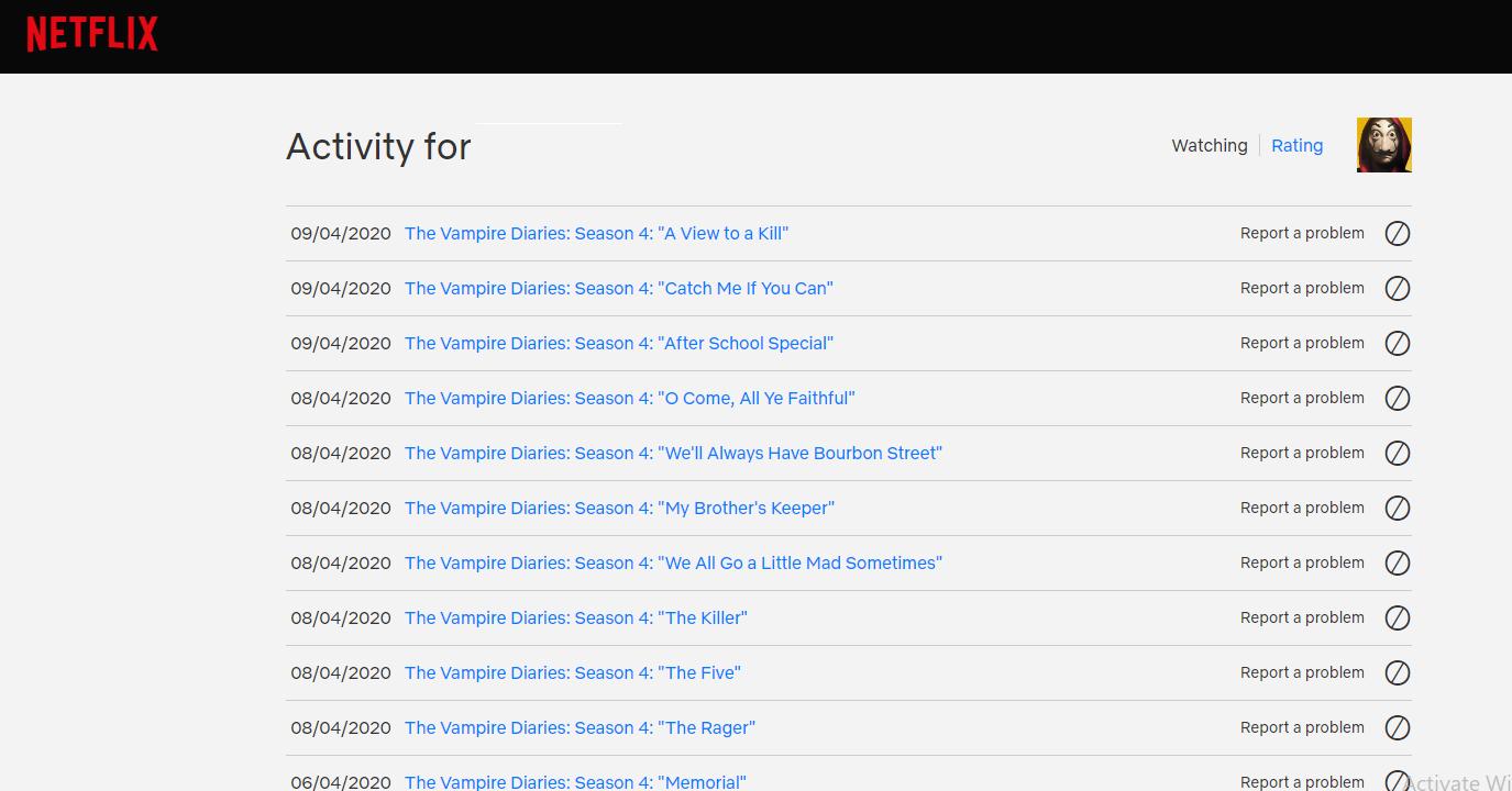 Netflix Activity