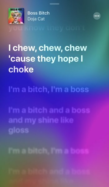 Apple music iPhone -lyrics