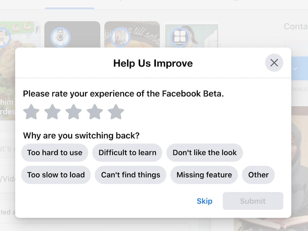 Facebook dark mode-survery