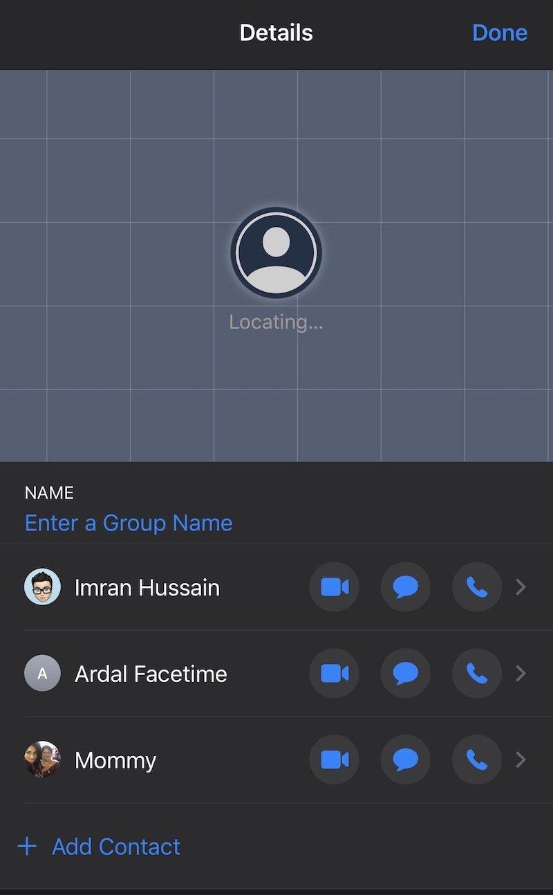 group call iOS a