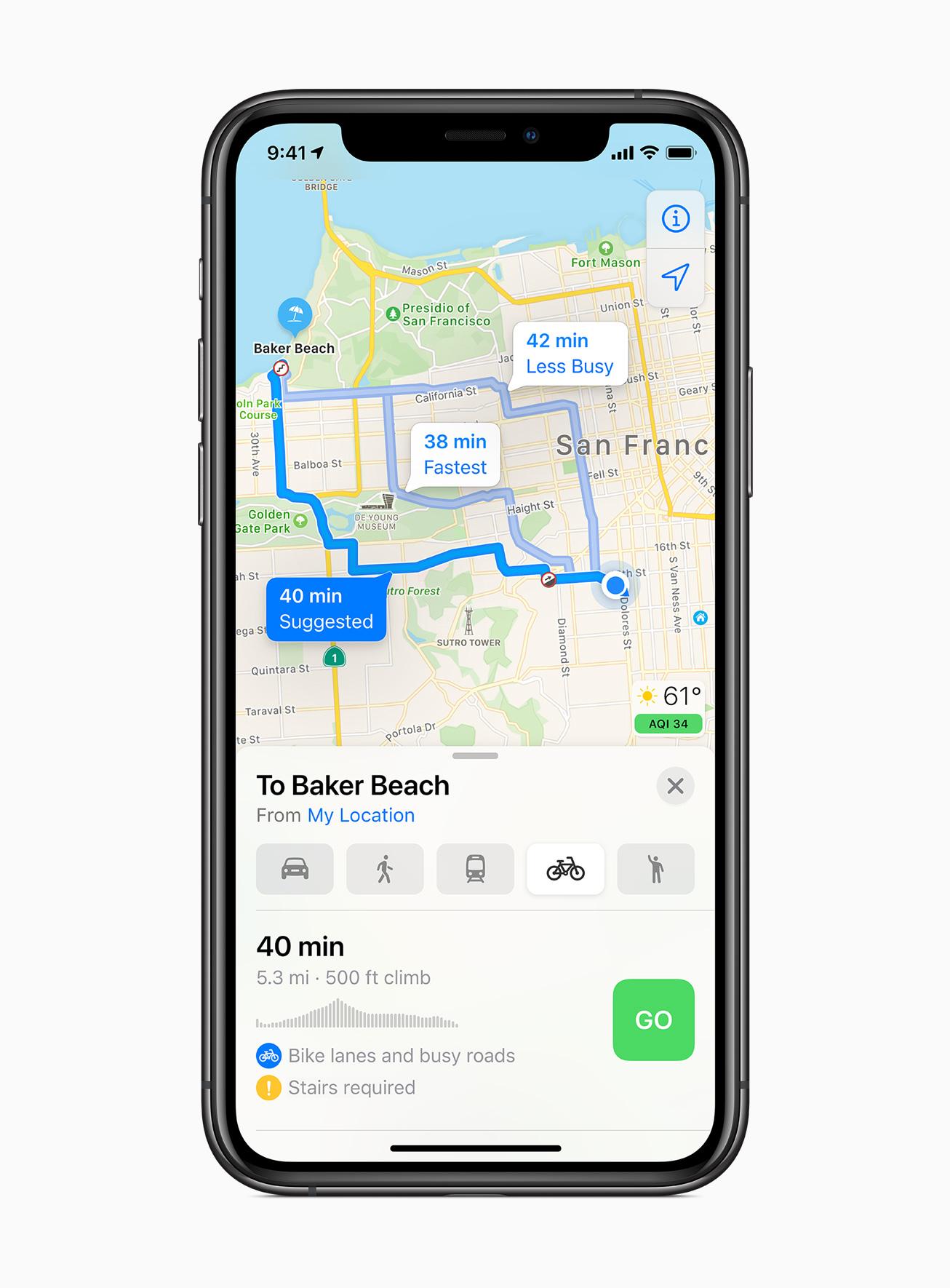 iOS 14 Maps