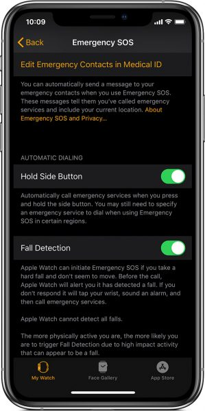 Fall Detection on Apple Watch