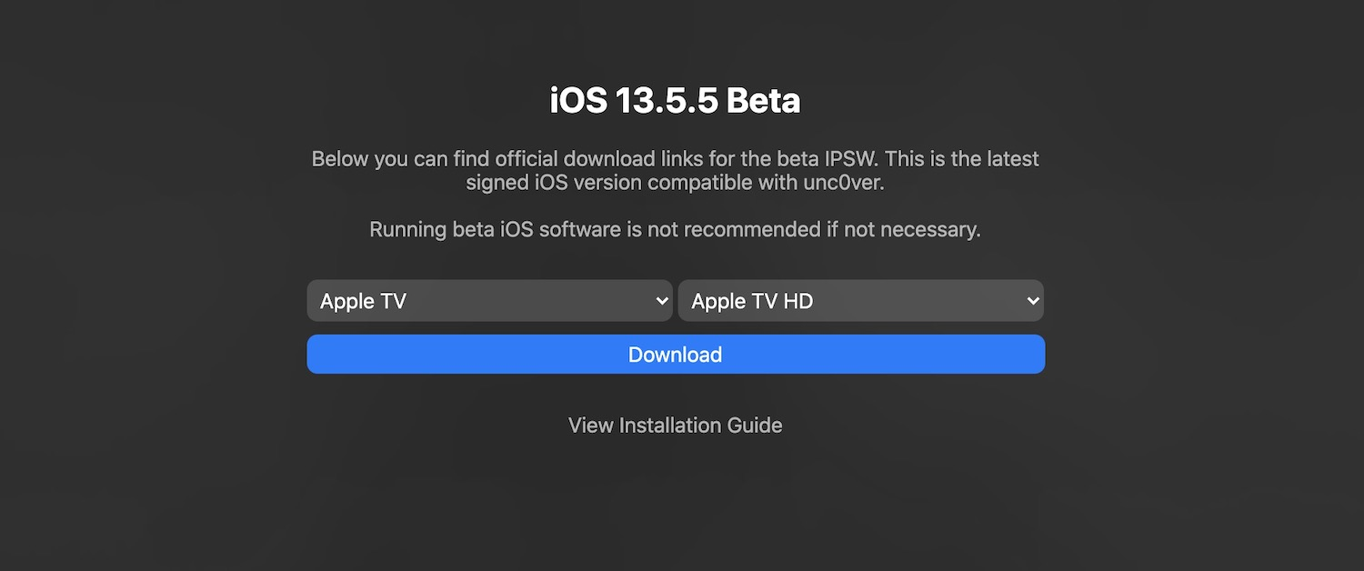 Jailbreak iOS 13.5.5 beta using unc0ver v5.2.0