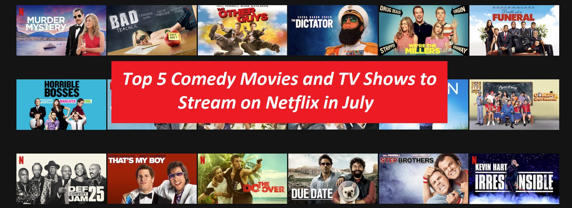 Netflix comedy recommendations