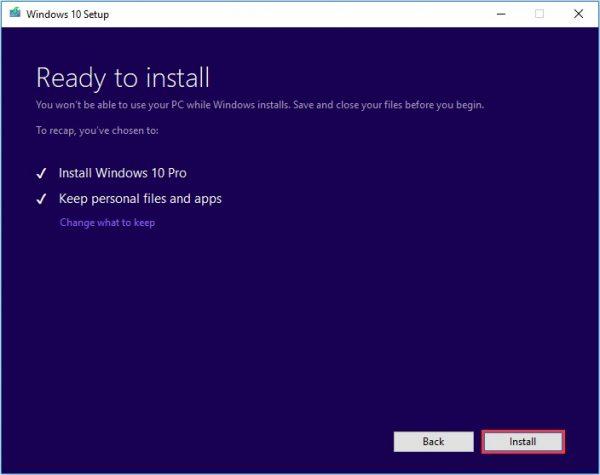 Windows Media Creation Tool 10
