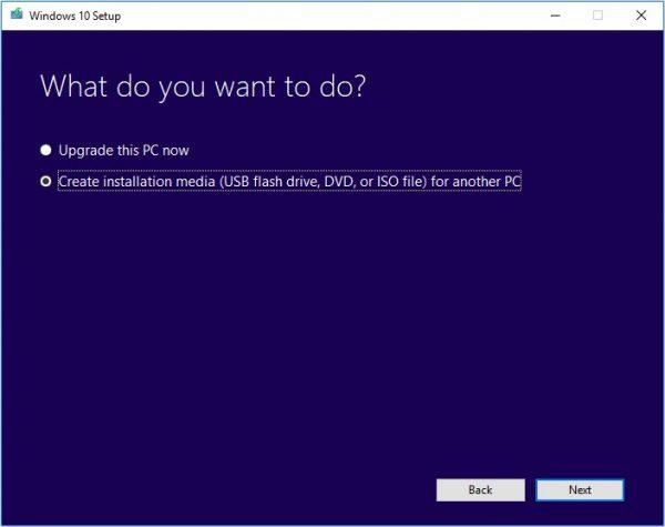 Windows Media Creation Tool 11