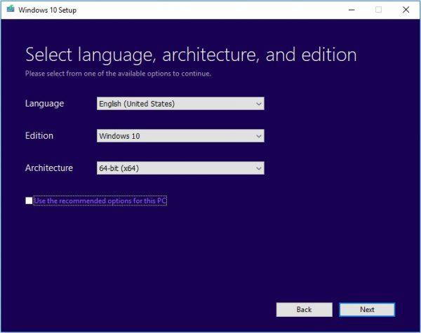 Windows Media Creation Tool 12