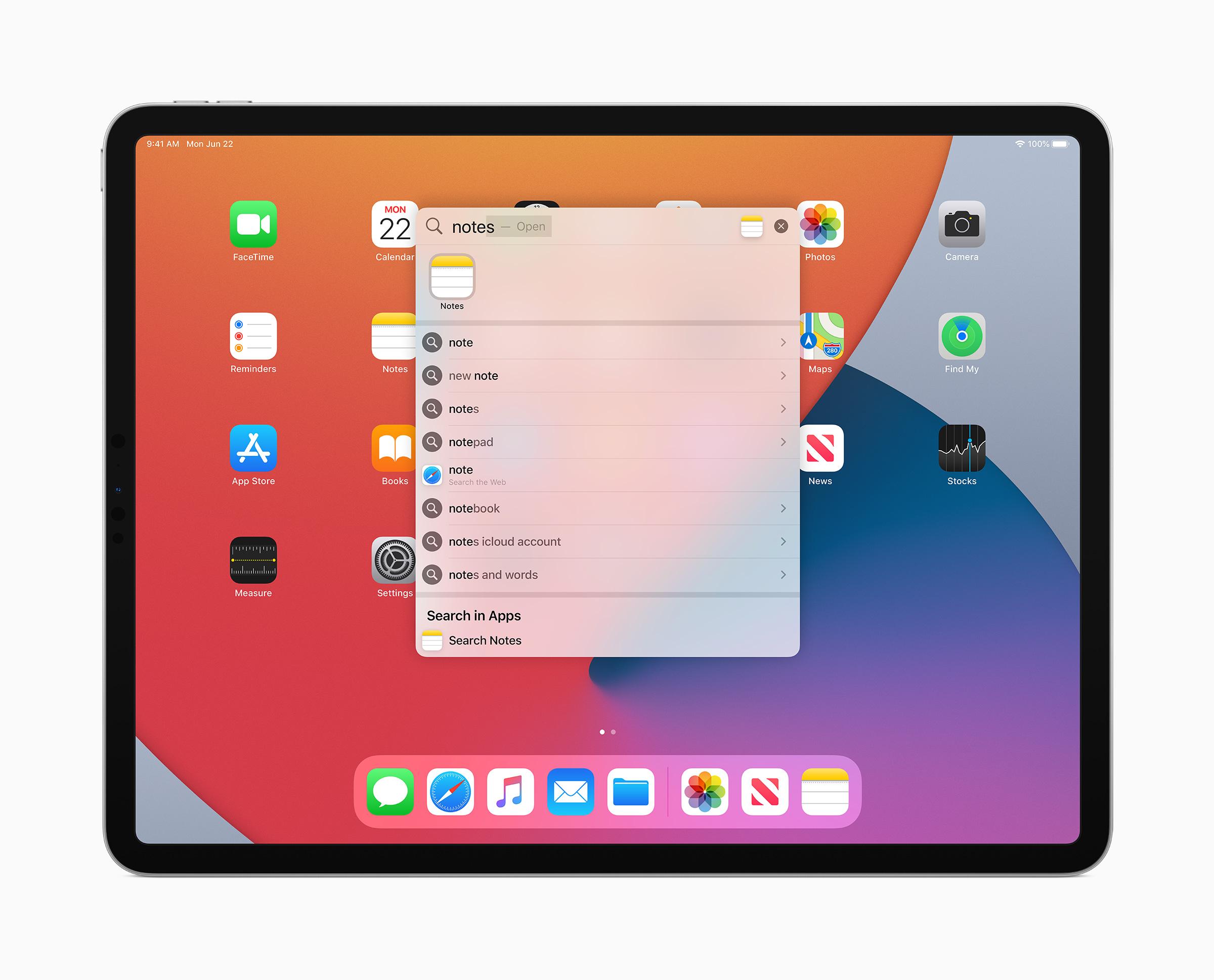iPadOS 14 search bar new updates