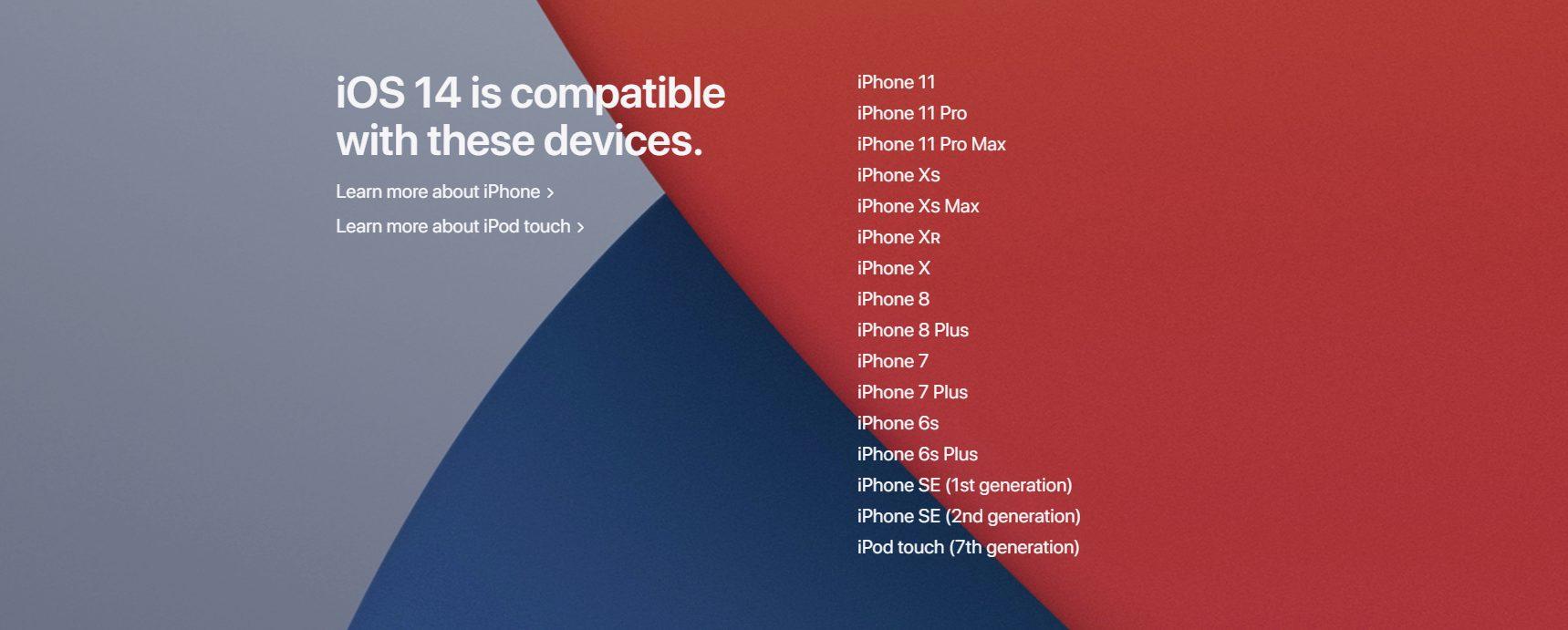 iOS 14 compatibility