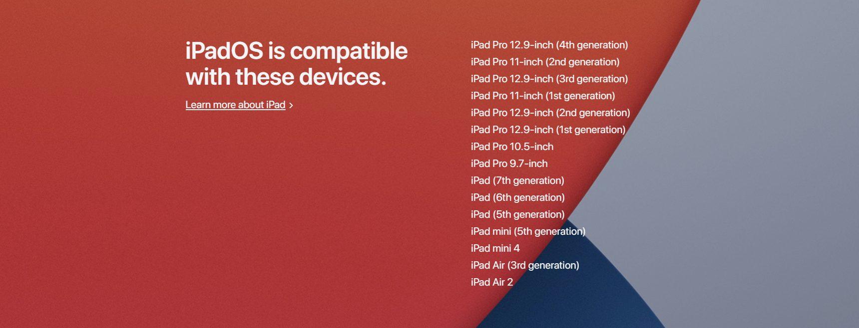 iPadsOS compatibility