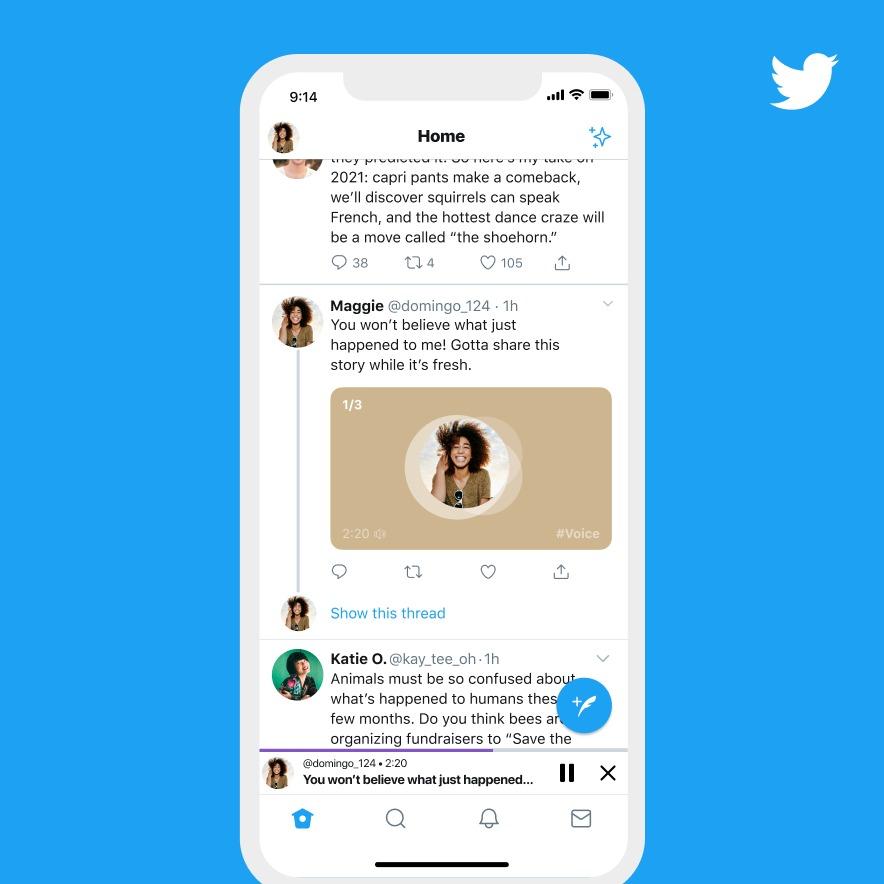 Twitter voice tweets