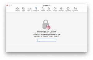 Safari passwords