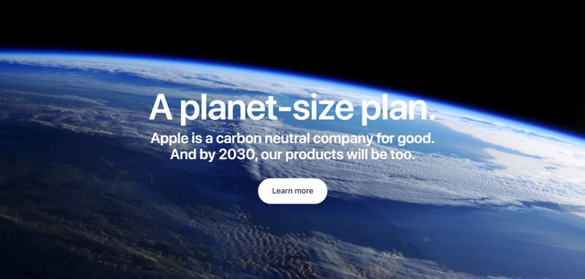 apple commits to be carbon neutral by 2030