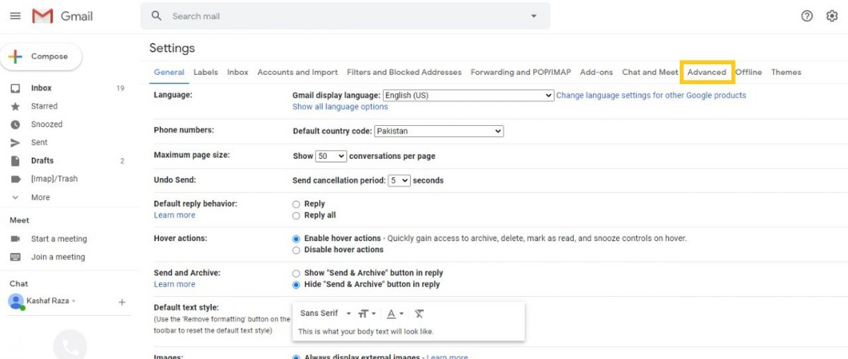 enable and use gmail templates 1