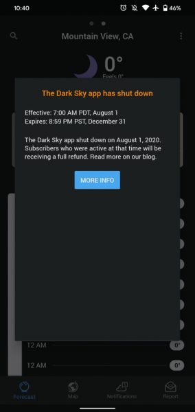 Apple Dark Sky