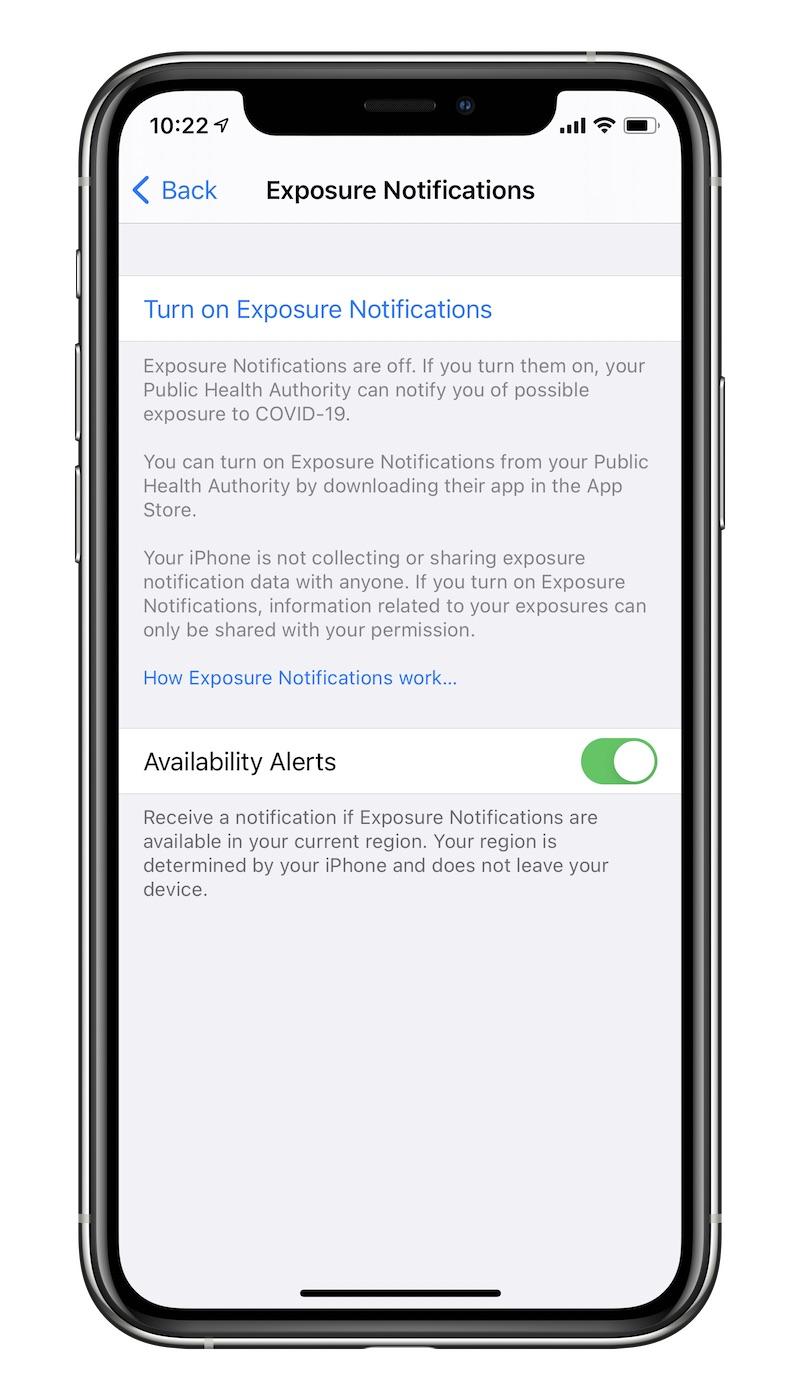 iOS 13.7 Exposure Notifications Opt-In
